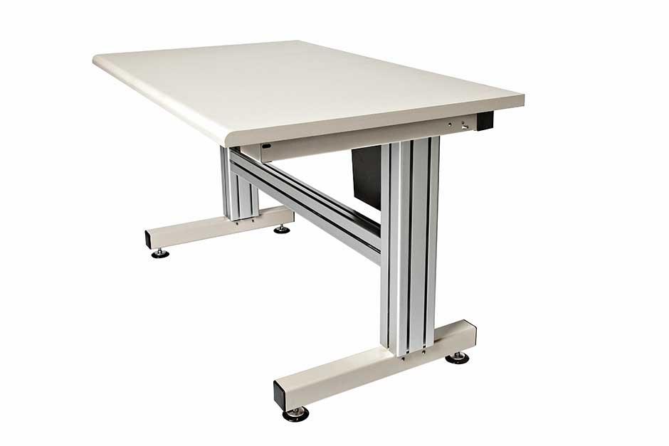 4 Leg Hand Crank Adjustable Height Work Table  Ergosource