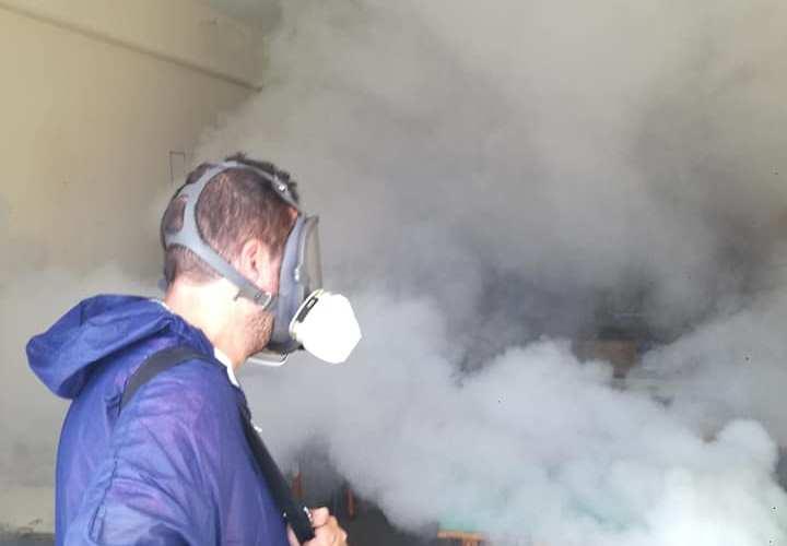 Προληπτική απολύμανση στο     Δήμο Σιθωνίας