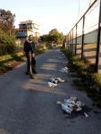 """ΓΗΠΕΔΟ ΠΑΛΑΙΟΧΩΡΙΟΥ """" Τα σκουπίδια ειναι για τους κάδους"""""""