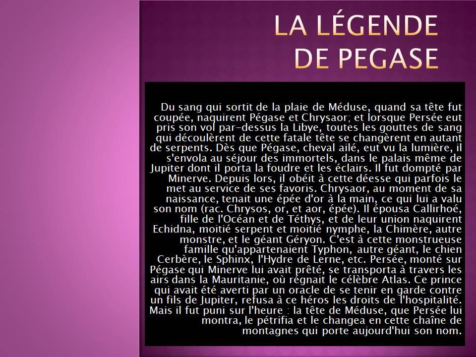 La légende de Pégase