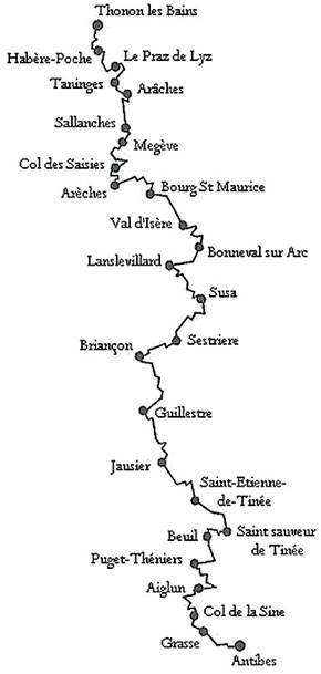 Parcours 1 - Randonnée Alpine (Cyclos Randonneurs Thononais.)