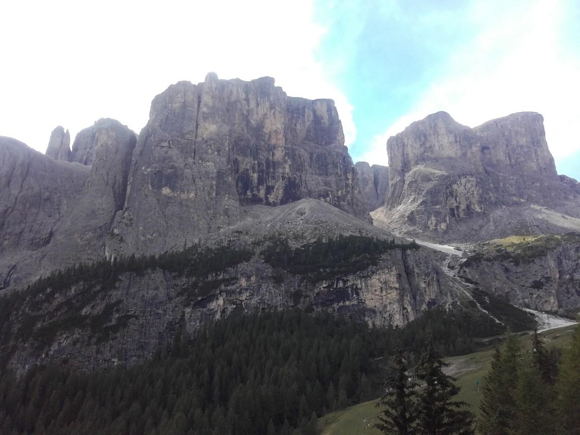 Les sommet du Passo Gardena
