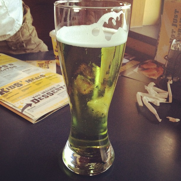 Green st Patrick's day beer