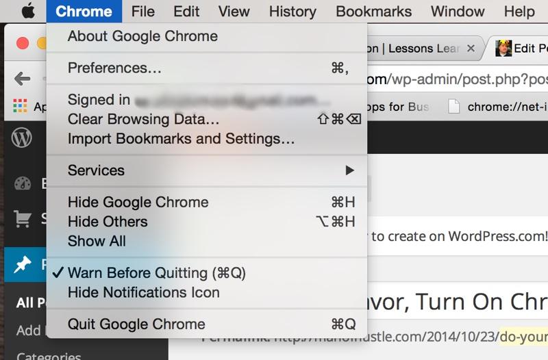 Chrome warn before quitting