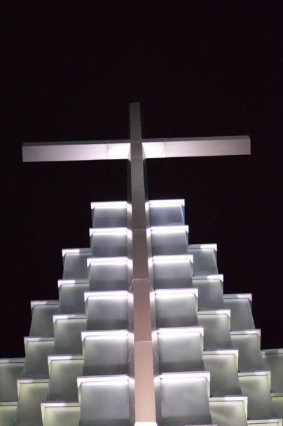 Cross at First Baptist Church