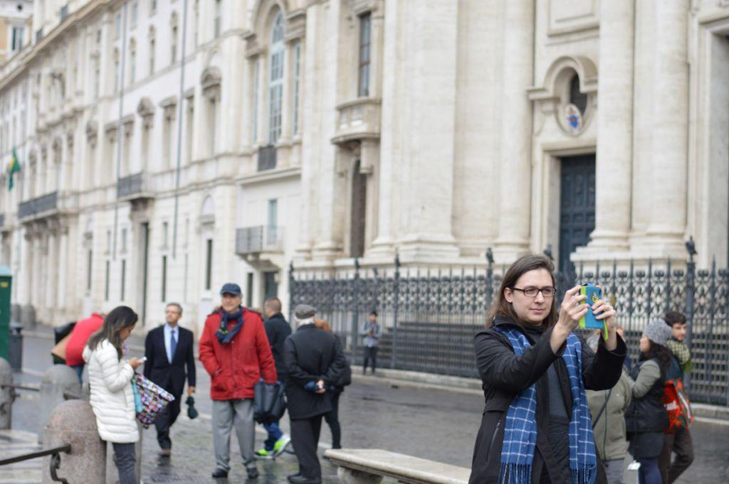 Jennifer at Piazza Navona