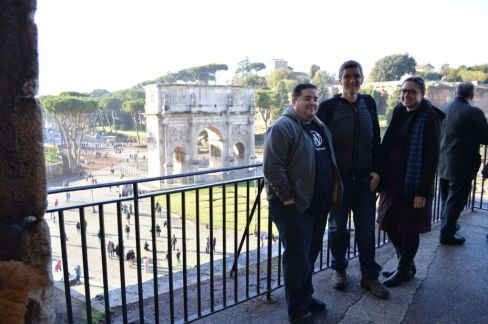 Allen, Jennifer, and I at the Colosseum