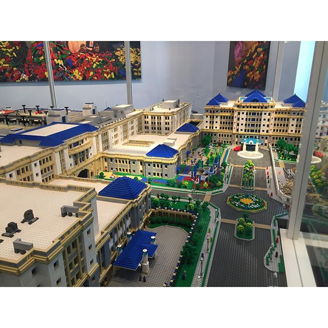 Lego recreation of Cook Children's hospital at Cook Children's hospital.