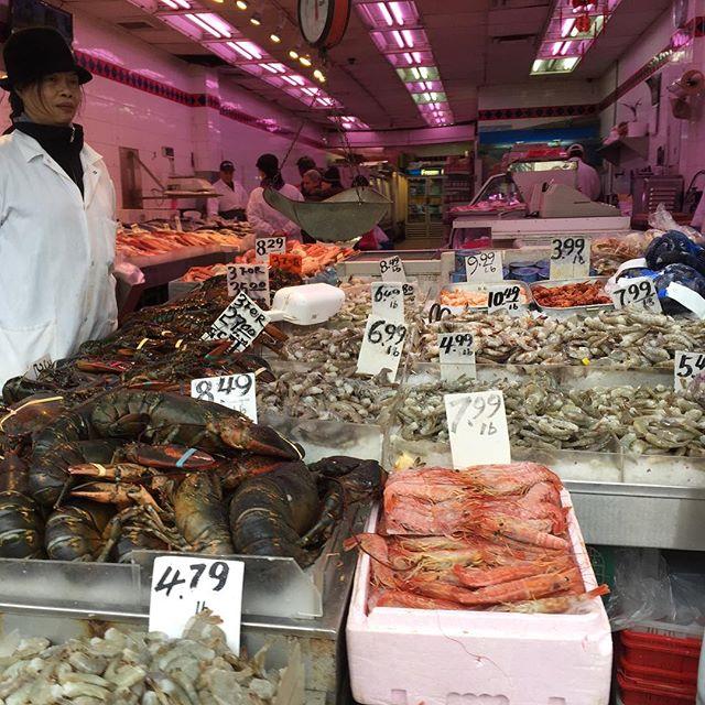 Fish market in China town. Hero wasn't a fan.