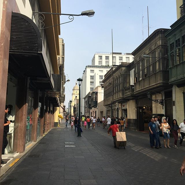 Street in city center of Lima
