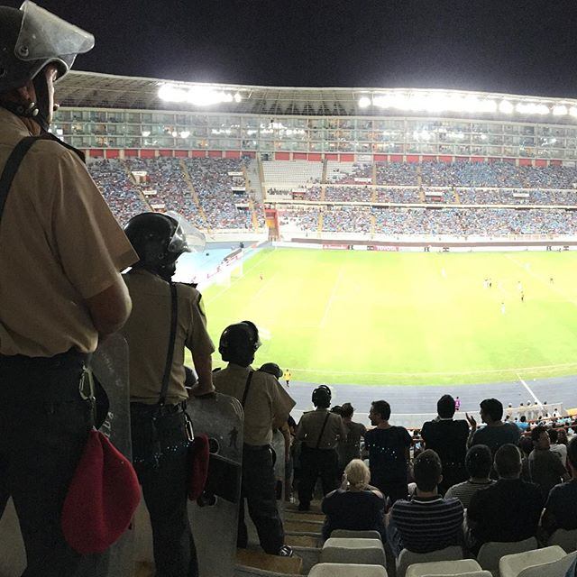 There were quite a few policemen at the Sporting Cristal vs. Peñarol game.
