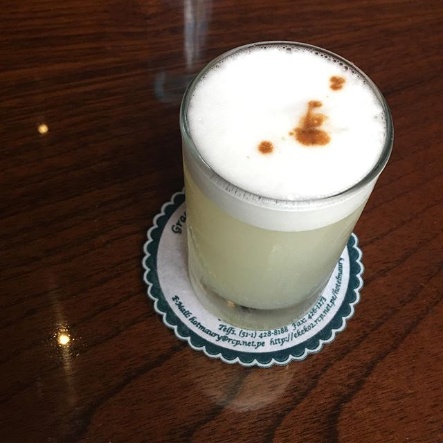 Pisco sour, from Hotel Maury, where it was created.