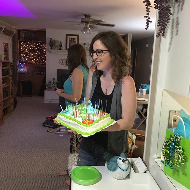 Birthday girl just before singing happy birthday.