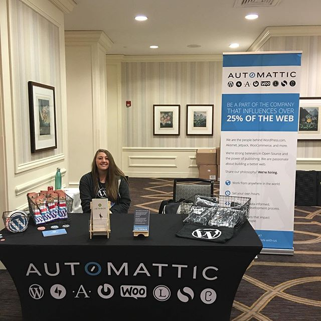 Good morning! Come see us at the #automattic booth at #phptek. 😀