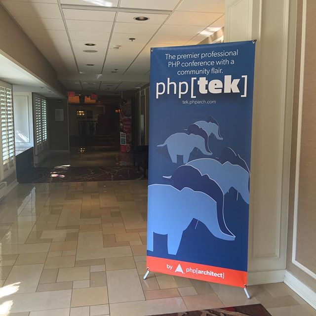 Made it to #phptek!