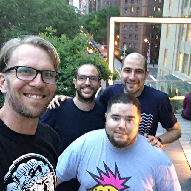 Team Poseidon on the high line.