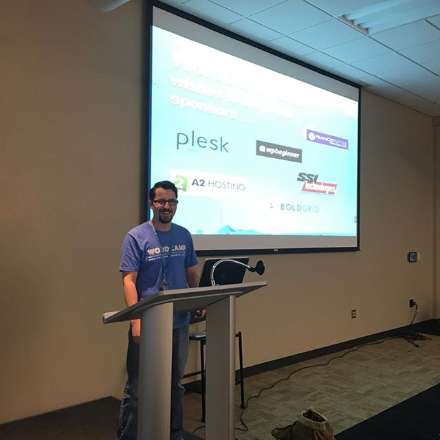Marc gearing up for the last presentation of the day. #wcokc