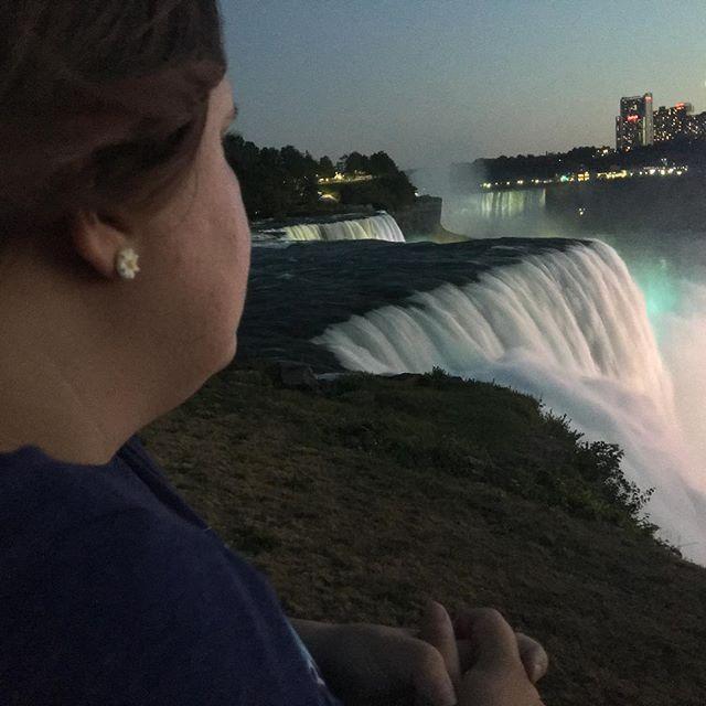 Sara at Niagara Falls