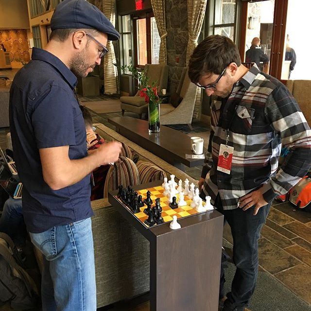 Miguel and @dsmartyparty playing chess. #a8cgm
