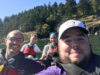 Team Poseidon kayaking