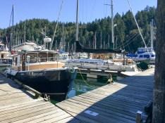 Boats in Bowen Island marina