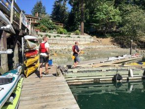 Miguel and Dan about to board their kayak