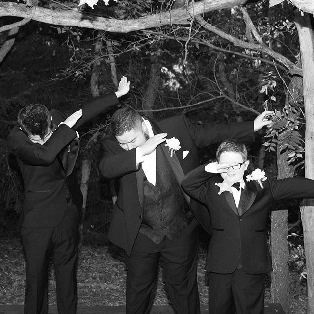 Had to get a picture of us dabbing at the wedding since that's Hero's new thing.