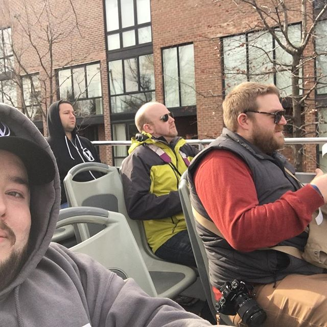 These jokers don't look as happy as me to be on top of the tour bus 😂 #jetpack #wcus