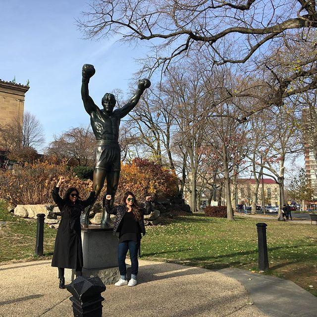 The rocky statue near Philadelphia Museum of Art.