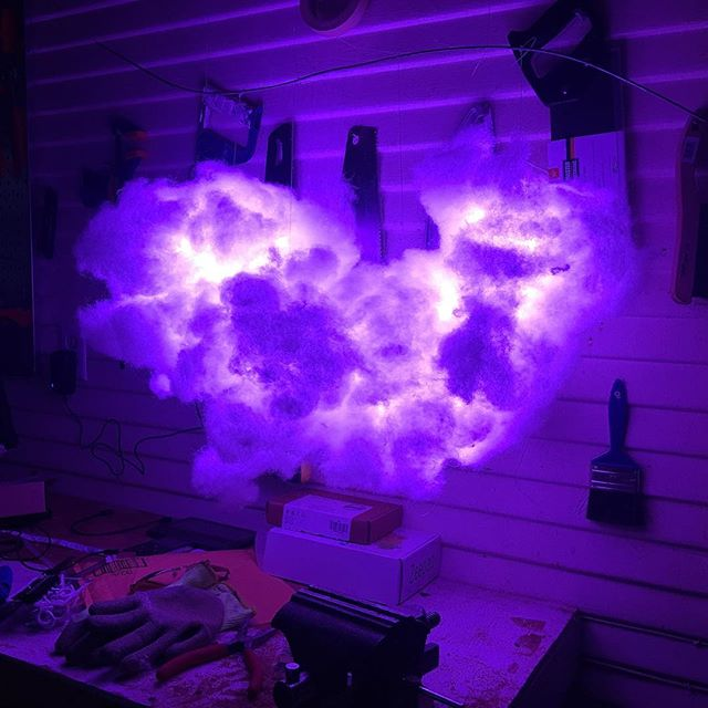 "@goldsounds created ""the cloud"" in his workshop"