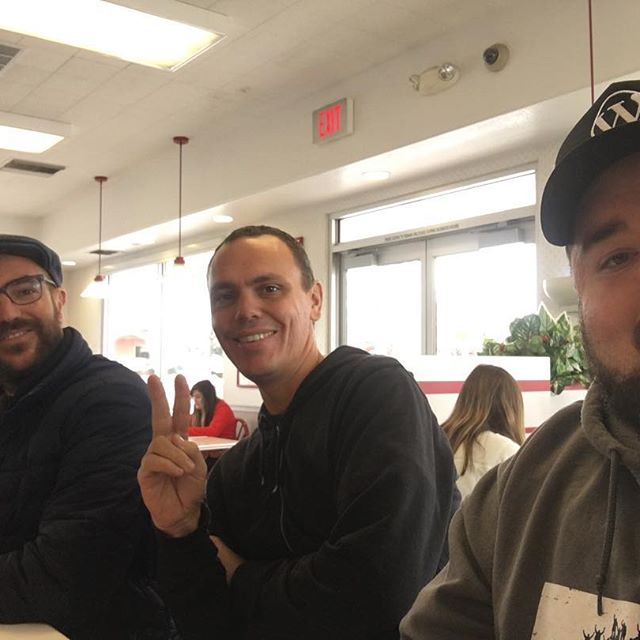 Had lunch with Miguel and @juicedpixels at In-N-Out. First time for the Uruguayan.