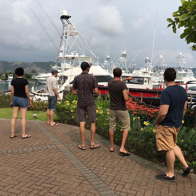 The gang at Los Suenos marina