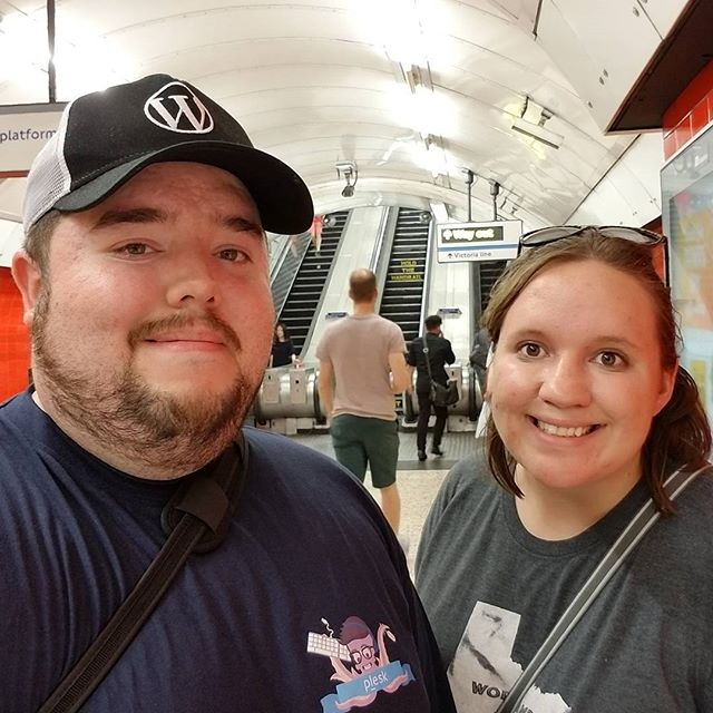 Sara and I in the underground