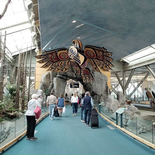 Welcome bird in Vancouver Airport