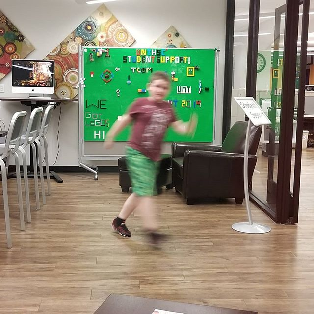 My son, Hero, AKA the blur, got to play in the student support center while I was at the #wpdfw meetup.