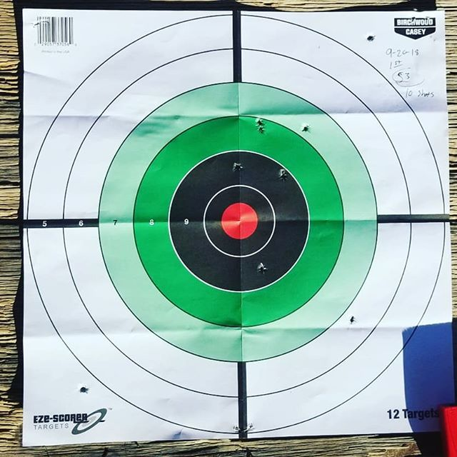 Got some more range time before work. Shot 50 rounds at 5 targets one handed and 20 rounds at two targets while two handed. I made an adjustment to the sight on the third target to move to the left a bit.