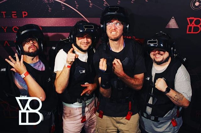 I fought stormtroopers and Darth Vader in virtual reality with @goldsounds, @enejbajgoric, and @roccotrip 💪 #a8cgm