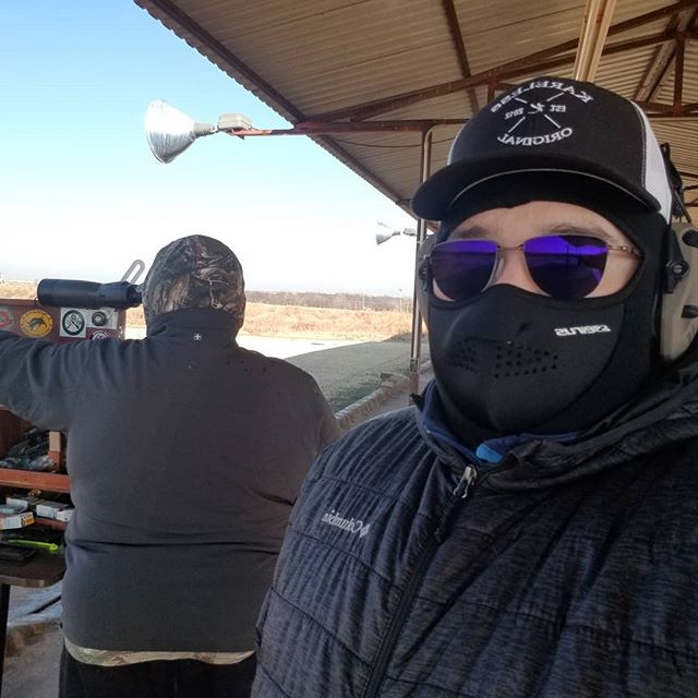 Out here shooting my first NRA sanctioned event with Greg Yost. It was about 25 fahrenheit when we started 🤣
