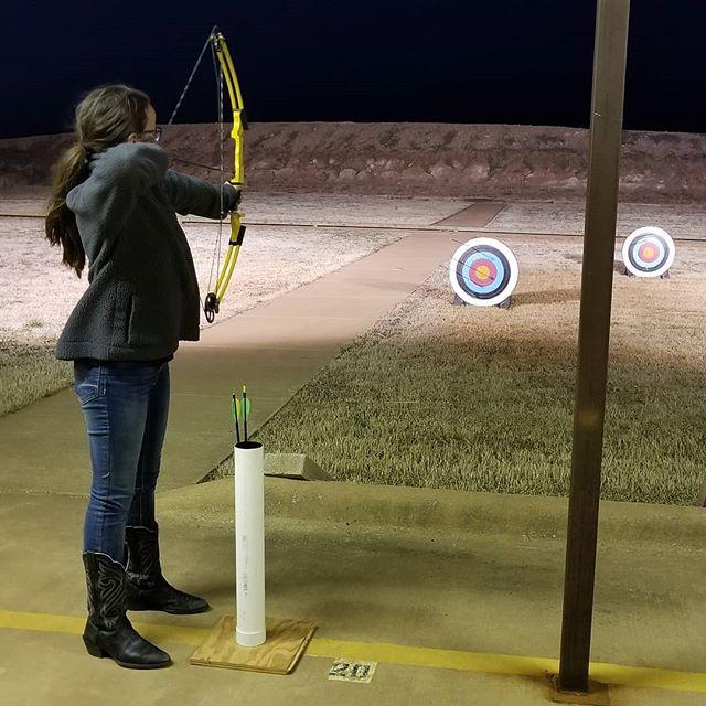 Destiny had her first 4-H archery practice tonight