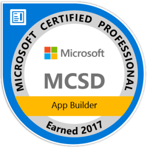 Image of MCSD certification