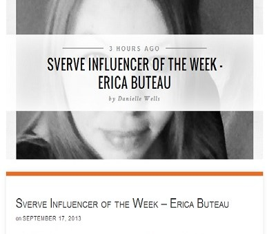 I'm Honored to Be Sverve's Influencer of the Week! Thanks @MySverve