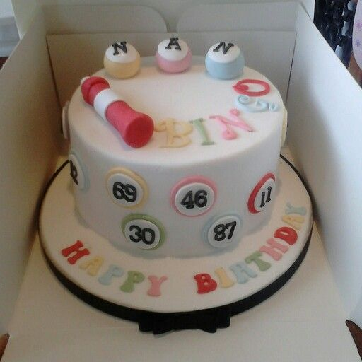 bingo themed party cake