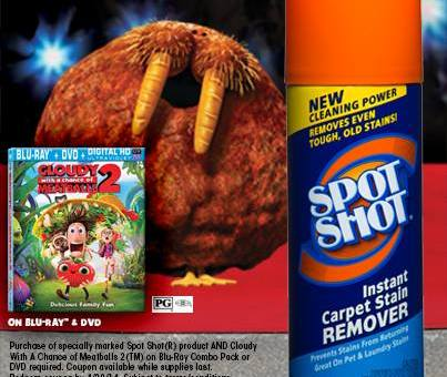 Tame Even the Wildest Carpet Stains! Spot Shot and Cloudy With a Chance of Meatballs 2 #Giveaway