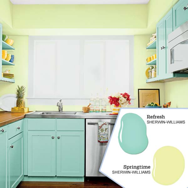 Why blue and green are hot colors to use in your new for New kitchen colors schemes