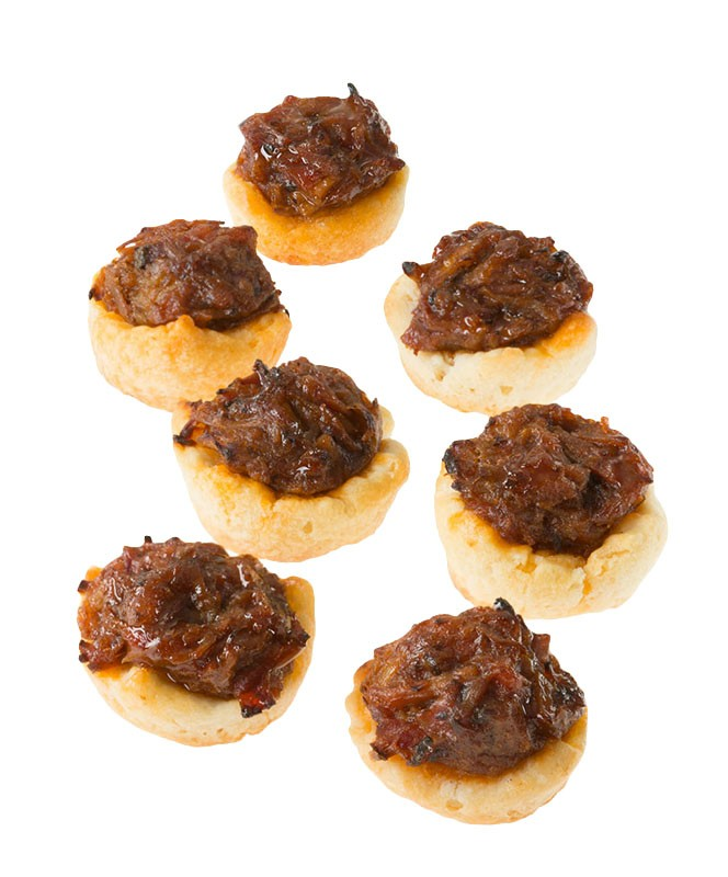 Pulled Pork with BBQ Sauce on a Biscuit