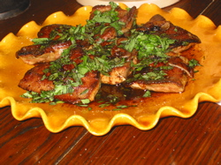 Vincent's family's Easter liver dish.