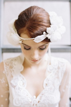 HEART'S AFFECTION BRIDAL SILK FLOWER CROWN