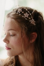 NOBLE ANNE JEWELED WEDDING CROWN