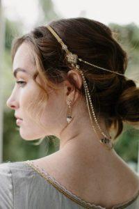 wedding hair chain, bridal headpiece, boho chic, Moroccan ...