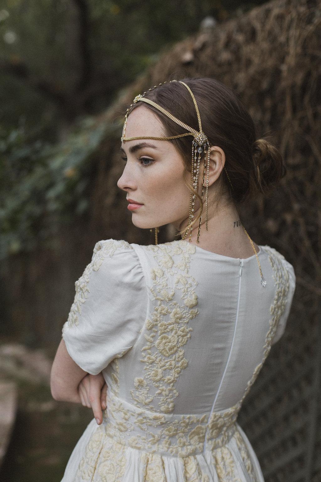 Bridal Hair Accessories Wedding Hair Chain Moroccan